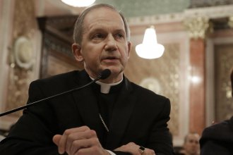 Bishop Thomas Paprocki of the Catholic Diocese of Springfield, Ill., has barred priests from performing sacraments for people in same-sex marriages. Above, Paprocki testifies against an Illinois same-sex marriage bill in 2013.