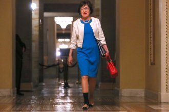 U.S. Sen. Susan Collins, R-Maine, and other female senators were excluded from the Senate leadership health task force this summer.