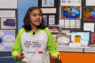 """Gitanjali Rao, 11, says she was appalled by the drinking water crisis in Flint, Mich. — so she designed a device to test for lead faster. She was named """"America's Top Young Scientist"""" on Tuesday at the 3M Innovation Center in St. Paul, Minn."""