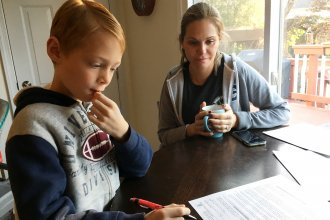 Michele Comisky of Vienna, Va., enrolled her 8-year-old son Jackson in a study to test the value of probiotics in preventing the gut distress often experienced when taking antibiotics.