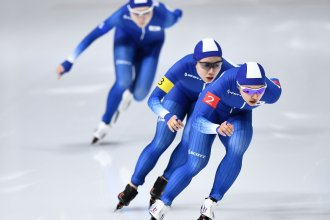 Two South Korean speed skaters face public outrage for unsportsmanlike behavior during a race. Now fans want them banned from the national team.
