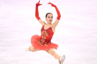 Alina Zagitova won the first gold medal for the Olympic Athlete from Russia team at the Pyeongchang Winter Olympics.