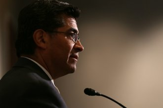 """Xavier Becerra, pictured here in 2013, the attorney general of California, alleges that employees engaged in """"widespread corruption."""""""