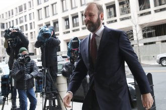 Former Trump campaign official Rick Gates arrives at the Prettyman Federal Courthouse on Friday in Washington, D.C. He confirmed that he is changing his plea to guilty.