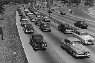 On June 29, 1956, President Dwight D. Eisenhower signed the Federal Aid Highway Act, also known as the National Interstate and Defense Highways Act. Essentially, this legislation ushered in the age of the interstate, which connected major cities across the country.