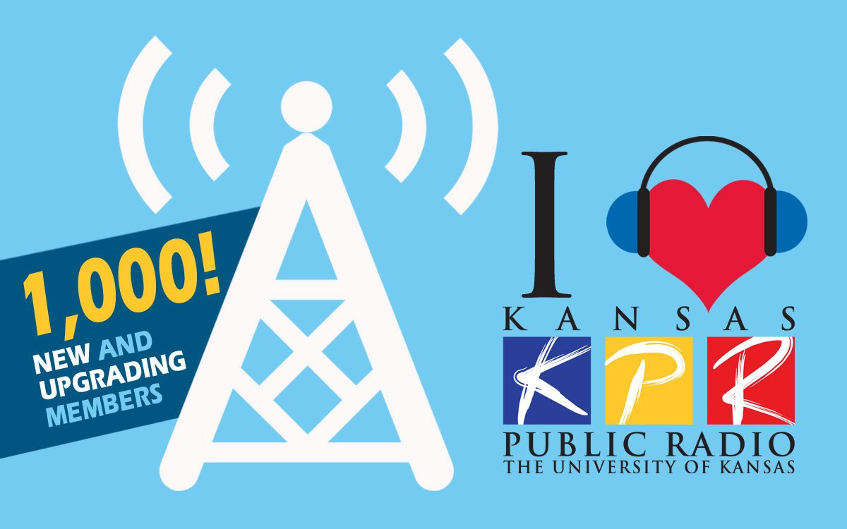 We're looking for 1,000 new and upgrading donors during this month of fundraising. You can do your part today - donate online at kpr.ku.edu/support or call 888-577-5268...and thanks!