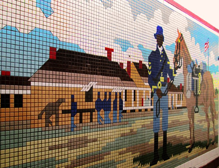 Buffalo Soldier Mural Near Van Horn, Texas (Flickr Photo by Jan)