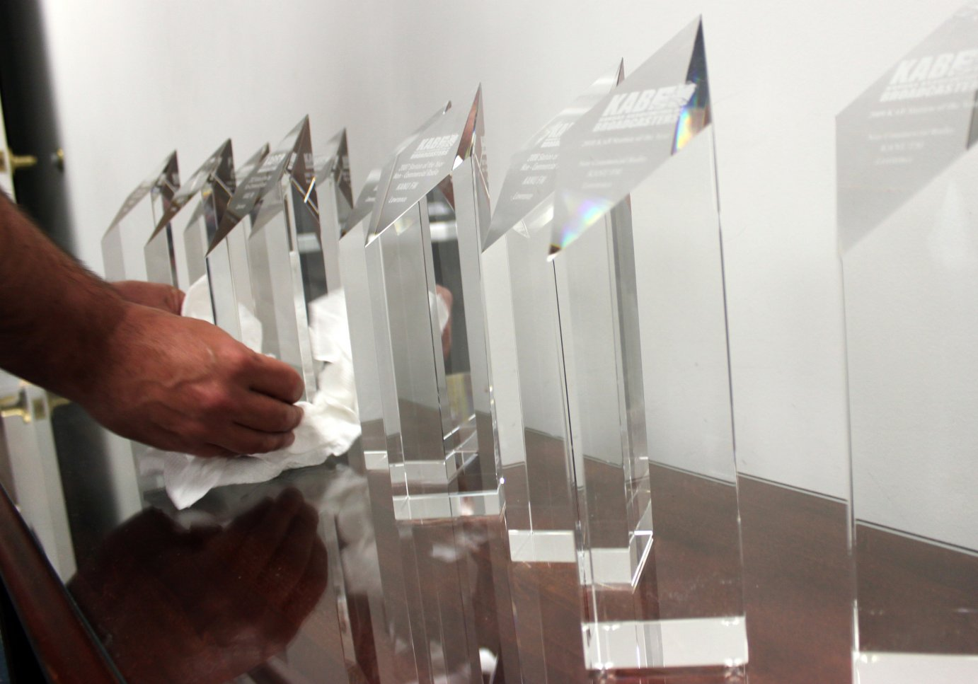 Some of the many Station of the Year awards KPR has received from the KAB since 1996.