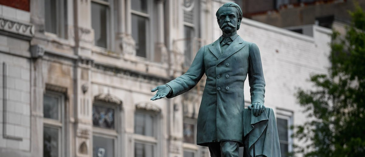 Statue of Confederate General John C. Breckinridge ouside the old courthouse in Lexington, Kentucky. Breckinridge served as U.S. vice president before the Civil War and, at one time, had a county in Kansas named after him. (Photo by Reuters)