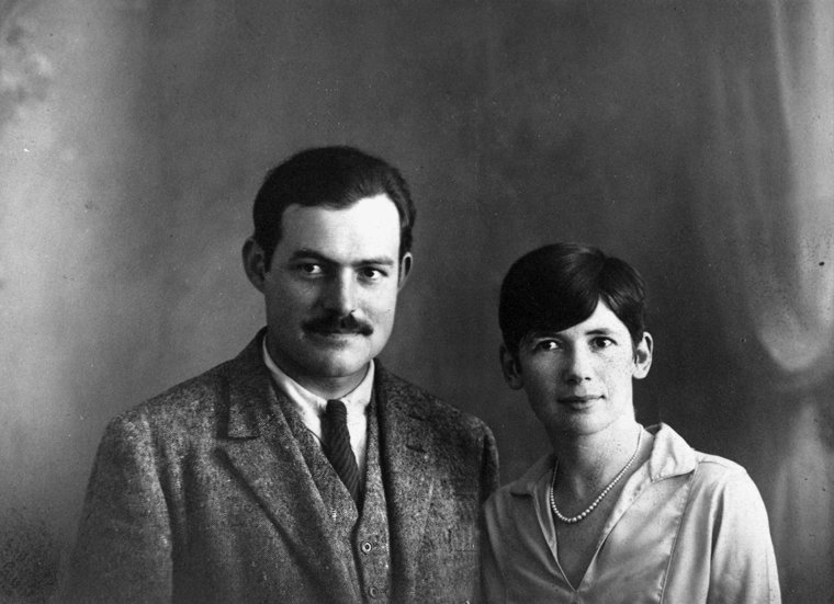 Portrait of Ernest Hemingway and Pauline Pfeiffer, Paris, Circa 1927. (Photo Courtesy of JFK Presidential Library)