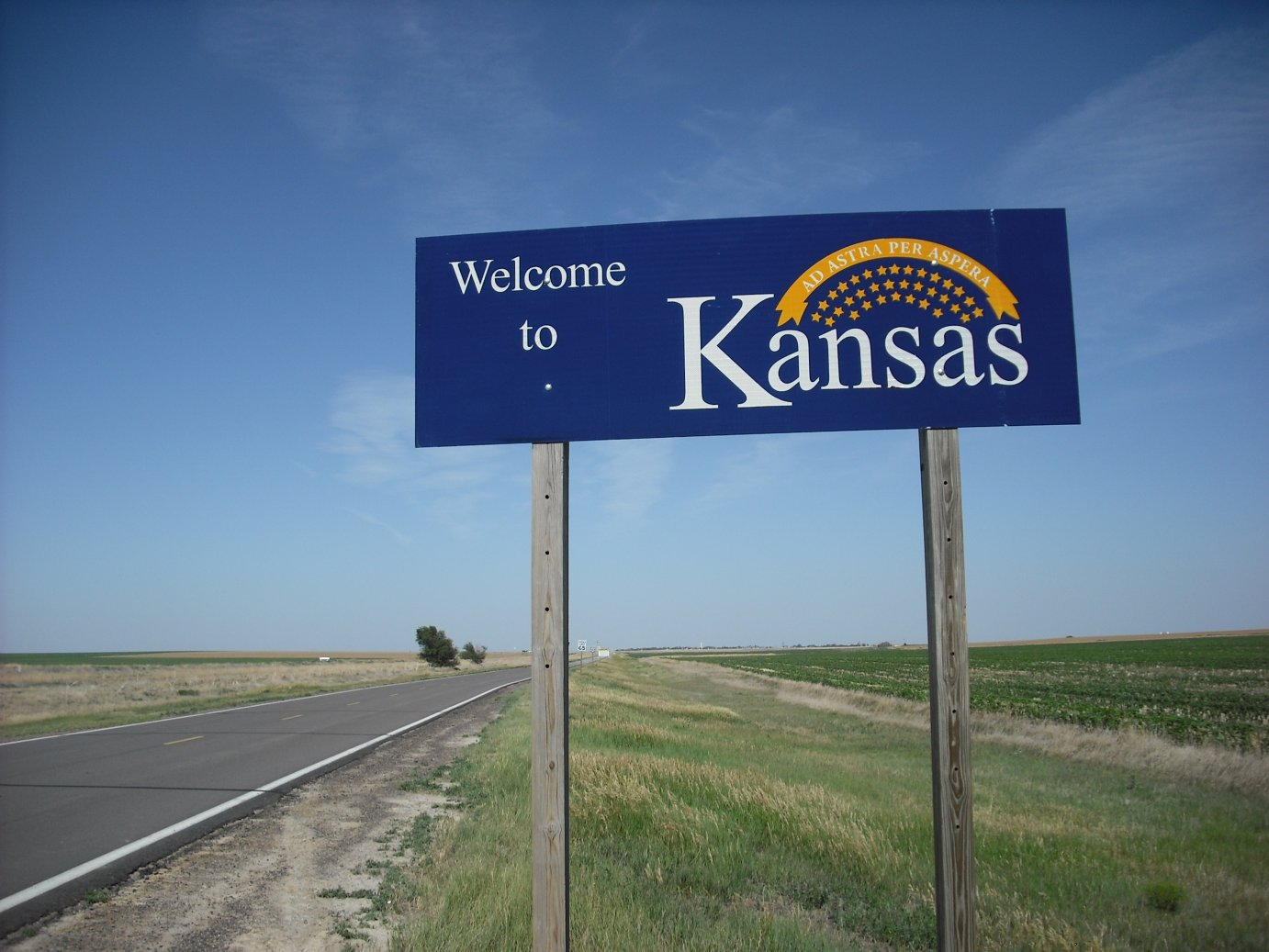 Welcome to Kansas sign (Photo by J. Schafer)