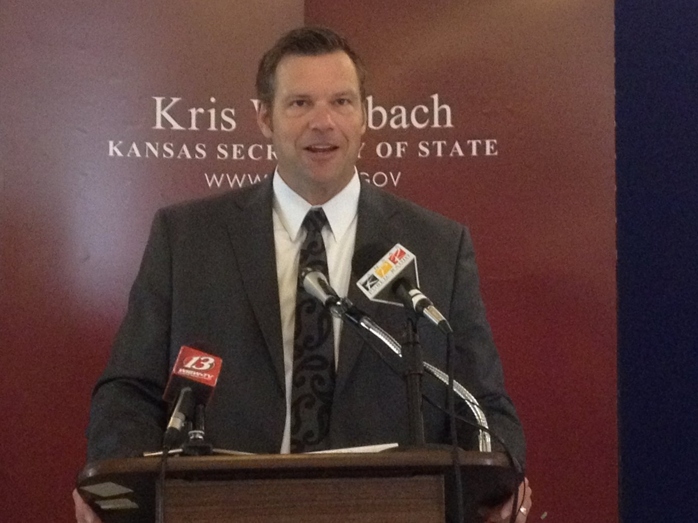 Kansas Secretary of State Kris Kobach, file photo (Photo by J. Schafer)