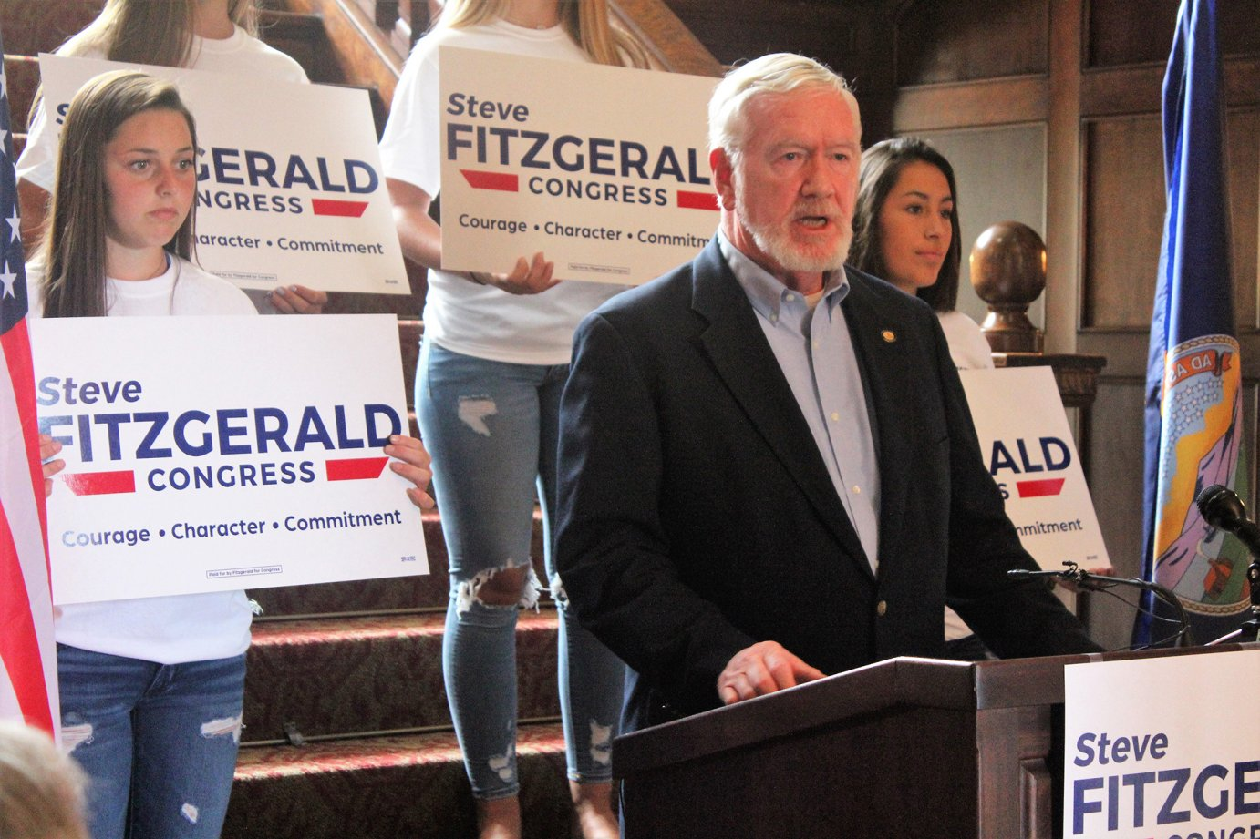 Kansas State Senator Steve Fitzgerald, of Leavenworth, announced his candidacy for the Republican nomination in the 2nd Congressional District, Thursday in Topeka. (photo credit: Jim McLean, Kansas News Service)