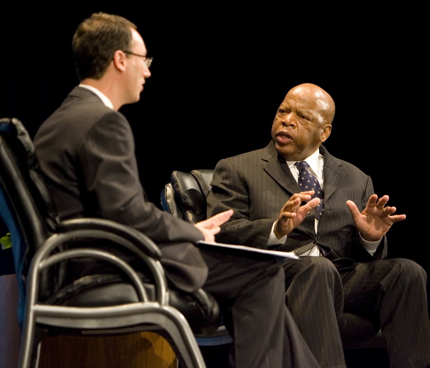 Congressman John Lewis with Dr. Jonathan Earle, then acting director of the Dole Institute of Politics