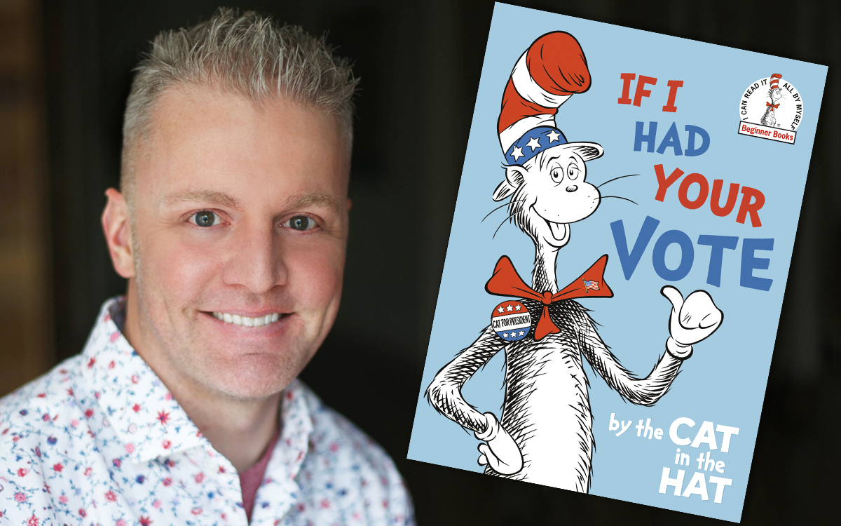 Photo of Alastair Heim, image of Cat in the Hat book