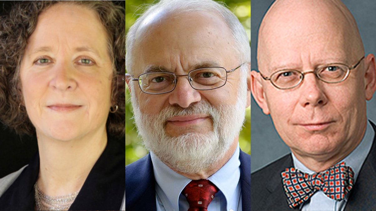 Headshots of Dr. Mary Stuckey, Dr. David Zarefsky, and Dr. Robert Rowland, provided by Dole Institute of Politics