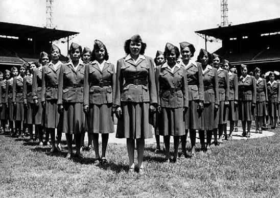 A monument was unveiled at Fort Leavenworth to honor the only black Women's Army Corps unit to deploy overseas during World War II.(Photo Credit: Women of the 6888th)