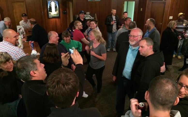 Political newcomer David Alvey defeated the incumbent for mayor of Kansas City, Kansas in Tuesday night's election. (Photo Credit: Andrea Tudhope, KCUR Radio)