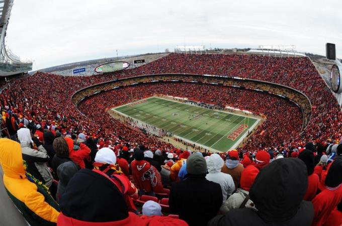 Arrowhead Stadium is likely to be a 'Sea of Red' when the Chiefs face off against the Tennessee Titans in the AFC Wild Card round. (Photo Credit: Senior Airman Carlin Leslie, U.S. Air Force)