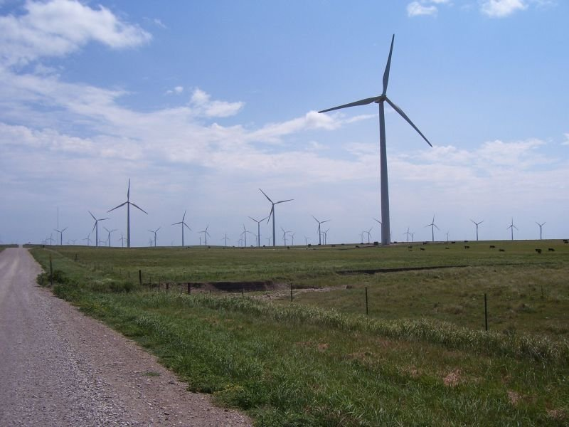 A view of the Elk River Wind Farm (Image credit: The Beaumont Hotel, Beaumont KS)