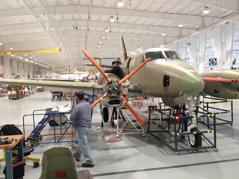 Workers at the Beechcraft plant in Wichita (Photo: Frank Morris, KCUR)