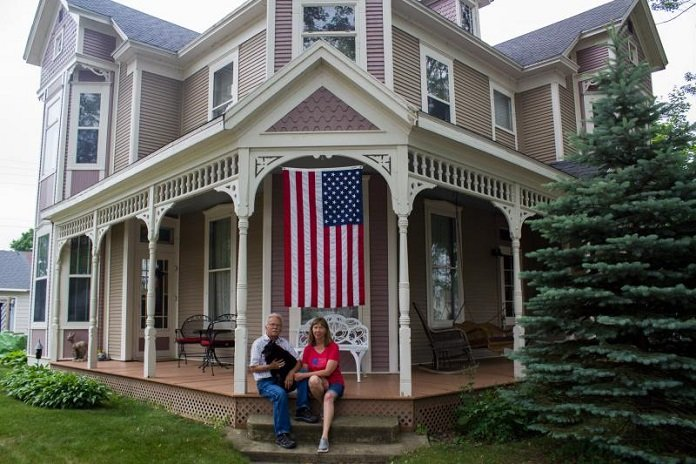 Ron Hansen and Julianne Couch bought and renovated a 200 year old house in the small town of Bellevue, Iowa.  (Photo Credit: Amy Mayer, Harvest Public Media)
