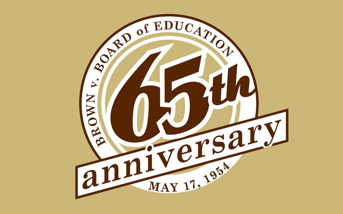 Brown v Board of Education 65th anniversary logo