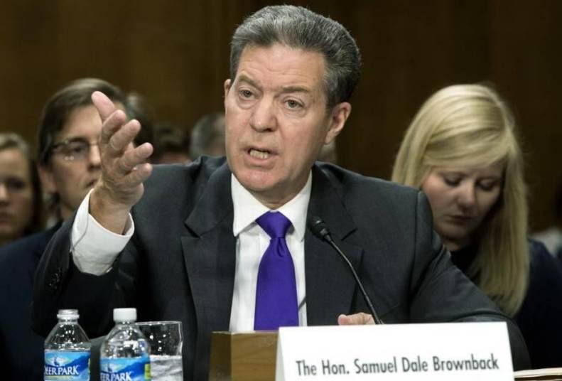 Kansas Governor Sam Brownback appeared October 4 before the Senate Foreign Relations Committee as the nominee to be ambassador-at-large for international religious freedom. (Photo Credit: Associated Press)
