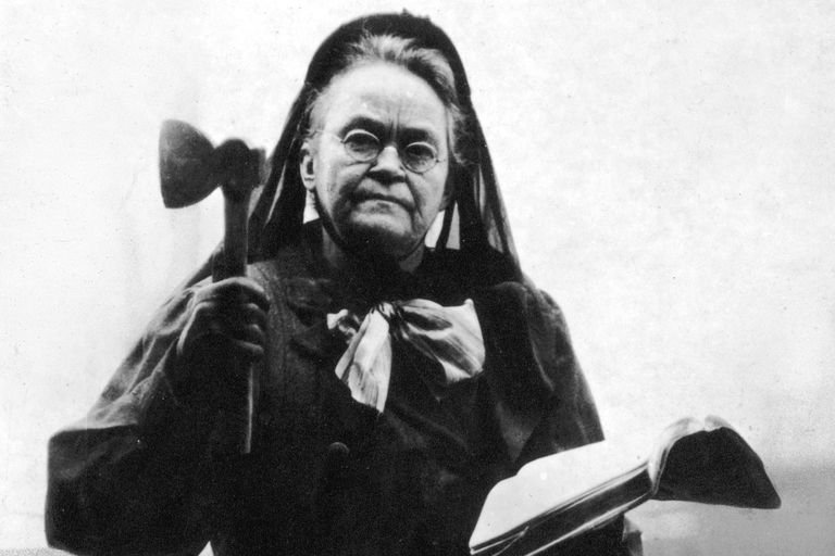 """Temperance advocate and Medicine Lodge resident Carrie A. Nation changed the spelling of her name to """"Carry"""" A. Nation and used her name to """"carry"""" the nation to enact prohibition."""