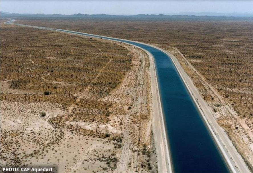 Central Arizona Project aqueduct - from KS Water Office presentation