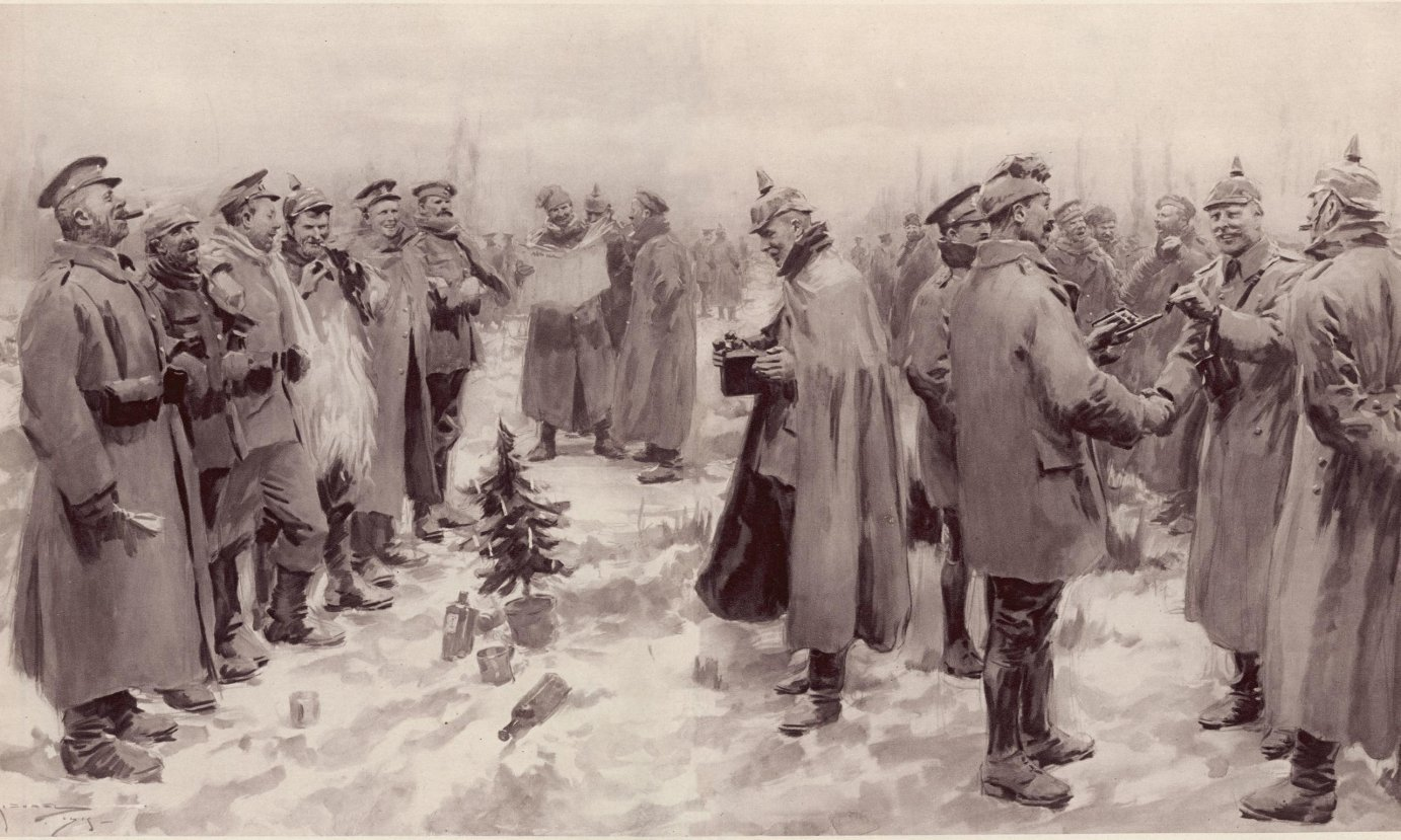 A depiction of the truce from the Illustrated London News in 1915.