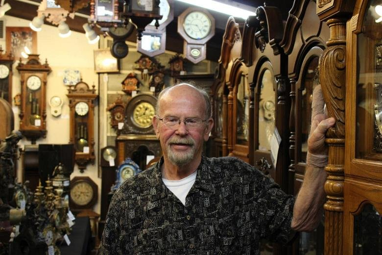 Scott Childs, owner of the Old Time Clock Shop in Wichita.