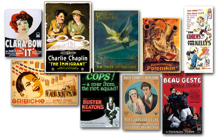Some of the films that will be screened at the 20th Kansas Silent Film Festival, February 25-27. (Image credit: Carol Yoho)