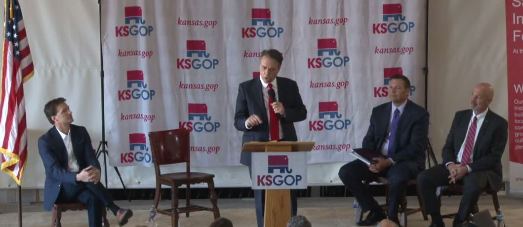 Candidates at the third Republican Party debate. (Photo from debate live stream)