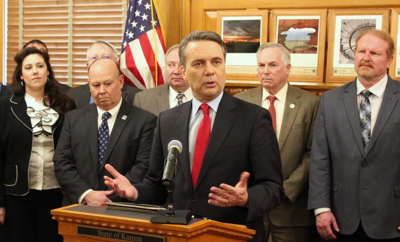 Colyer speaking at an event announcing the task force. (Photo by Stephen Koranda)