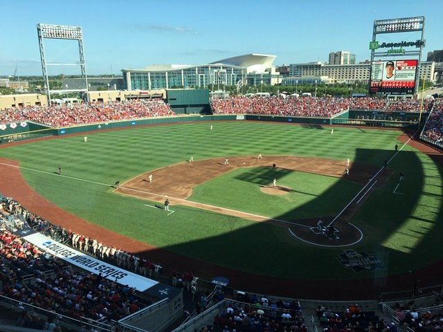 TD Ameritrade Park, Omaha's 24,000 seat stadium, is home to the College World Series as well as the Creighton Bluejays Baseball team. (Photo by Greg Echlin)