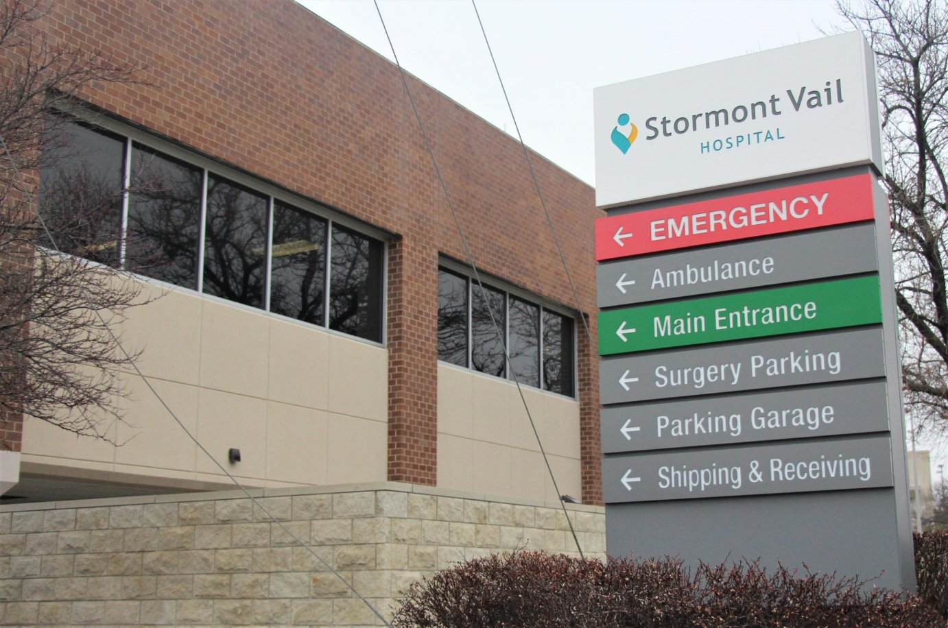 Stormont Vail Hospital in Topeka is among those preparing for the worst when it comes to the COVID-19 outbreak. (Photo by Celia Llopis-Jepsen, Kansas News Service)