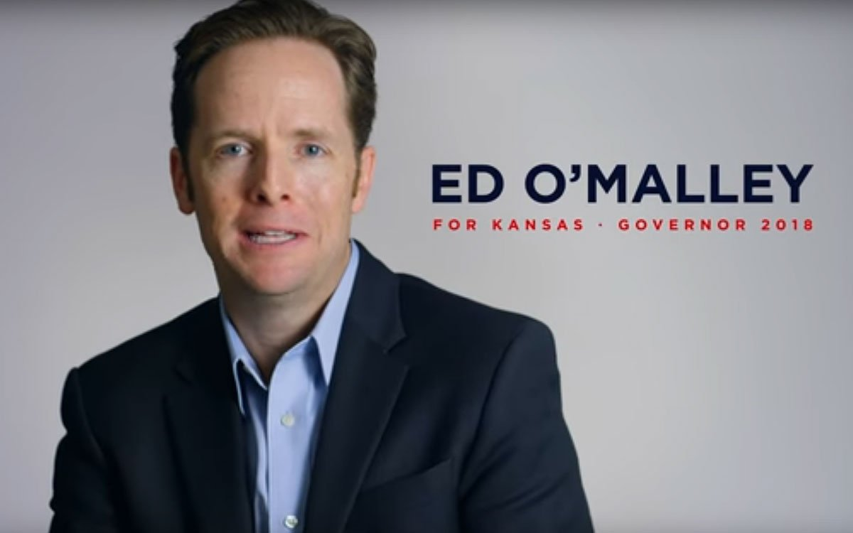 Ed O'Malley is president of a nonprofit organizing and advocacy group in Wichita. (OmalleyforKansas / Youtube)