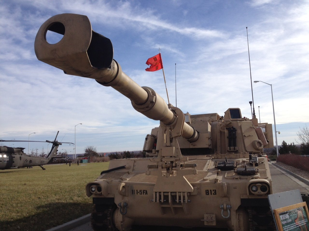 Tank on display at Fort Riley (Photo by J. Schafer)