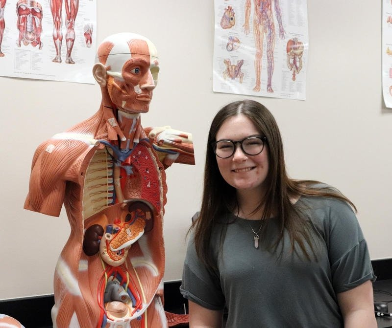 Maize High graduate Gracie Dean is among a growing number of young adults pursuing health careers.  (Photo courtesy of Maize USD 266)