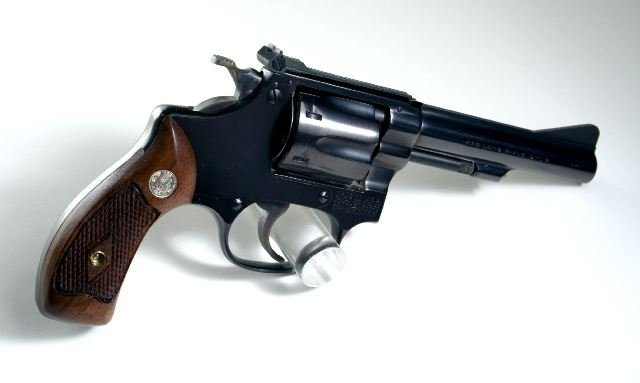Smith & Wesson handgun (Image credit:Stephen Z, via commons.wikimedia.org through CC BY-SA 2.0)