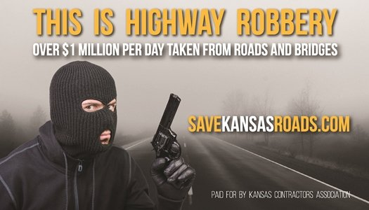 Billboard erected by the Kansas Contractors Association (Photo from KCA website)