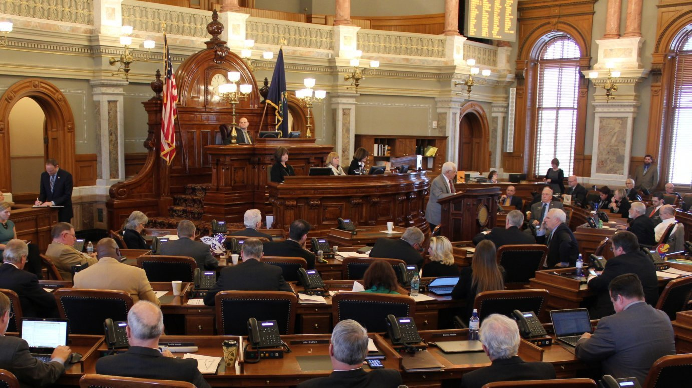 A debate in the Kansas House chamber. (Photo by Stephen Koranda)