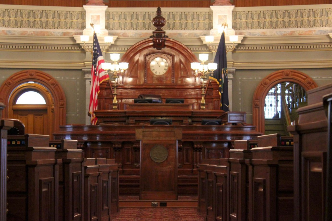 The Kansas House chamber. (Photo by Stephen Koranda)