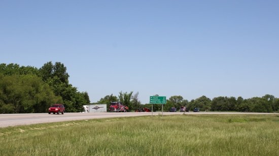 A portion of the area where a delayed highway project will be getting underway soon near Pittsburg (Photo credit: Andy Marso, KHI News Service)
