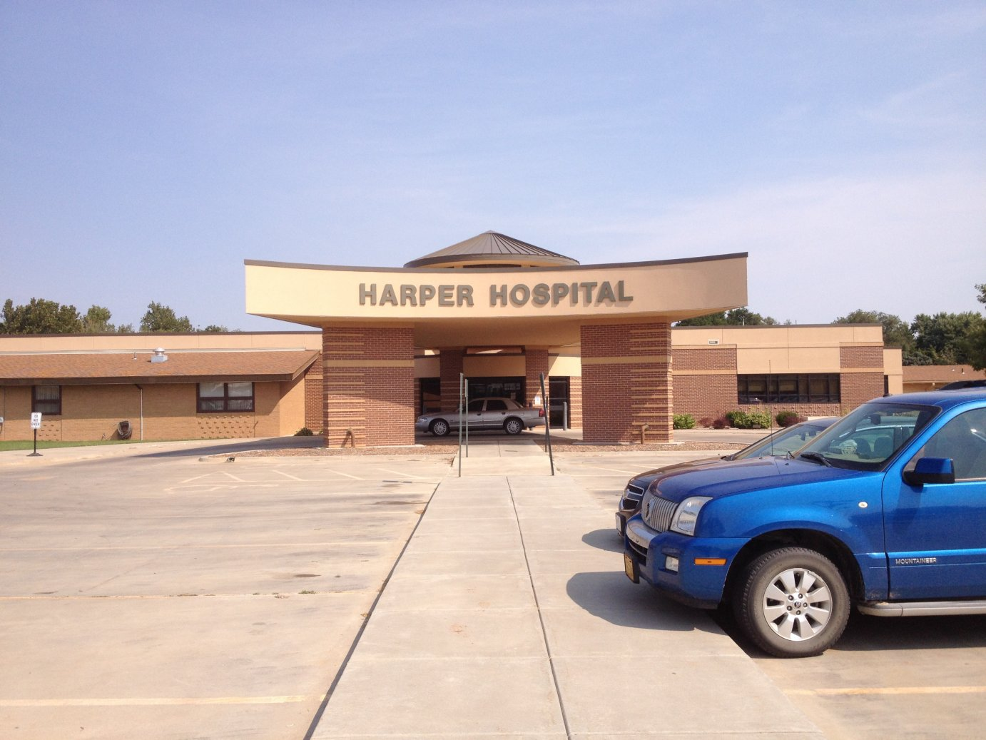 Community hospital in Harper, Kansas (Photo by Bryan Thompson)