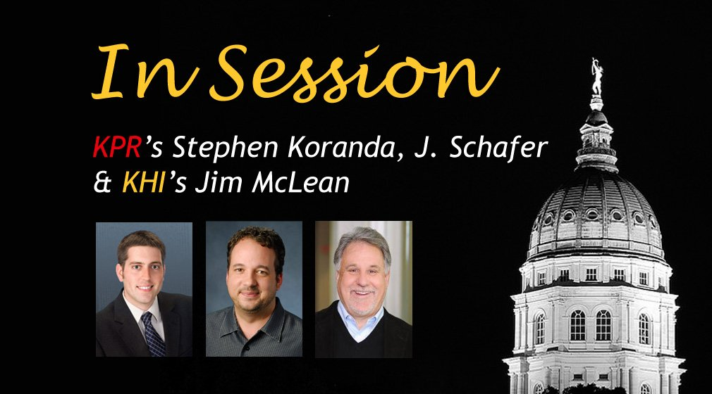 KPR Statehouse Reporter Stephen Koranda (L), KPR News Director J. Schafer (C) and Jim McLean (R) of the KHI News Service
