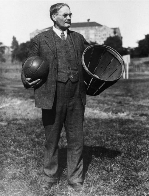 Dr. James A. Naismith, KU's first basketball coach and inventor of the game.