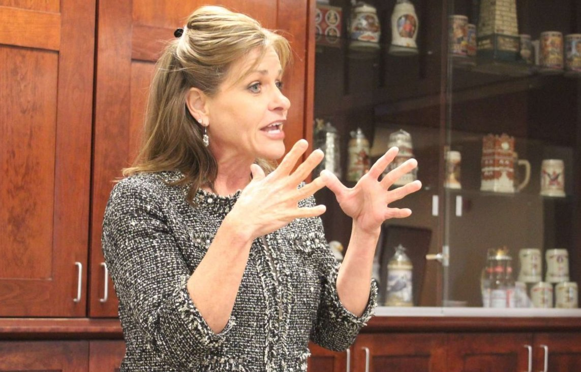 Congresswoman Jenkins speaking at an event last year. (Photo by Stephen Koranda)