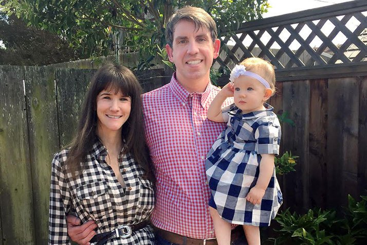 Joe McConnell with his wife Valerie and daughter Madeline. (Photo: Courtesy of Shawnee Mission Post)